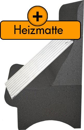 Dampfbadbank T75 mit Heizmatte