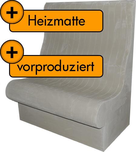 vorproduzierter Dampfbadsitz T75