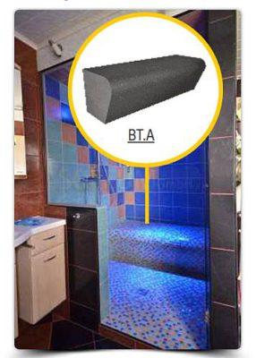 Duschsitz BT.A - Rohteil aus EPS