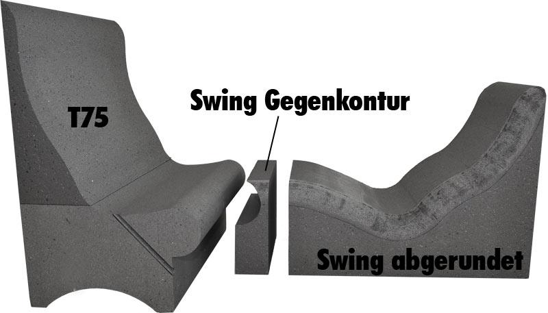 Liege Swing mit Dampfbadsitzbank T75