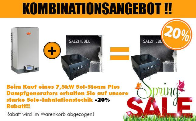 Kombinationsangebot Dampfgenerator Solenebler