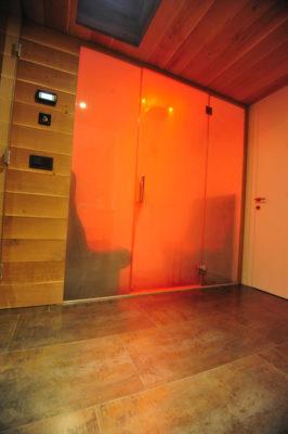 Dampfbad für 2 Personen mit Farblicht