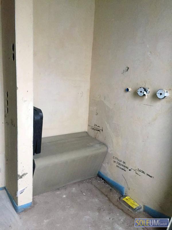 Duschsitz aus EPS zum Befliesen
