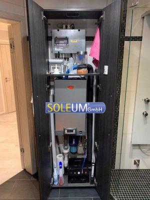 SOLEUM Technikbereich für Dampfbad
